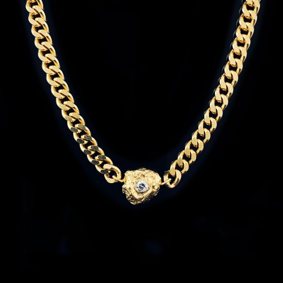Image of ALBA SAPPHIRE NECKLACE /  24k Gold-coated silver