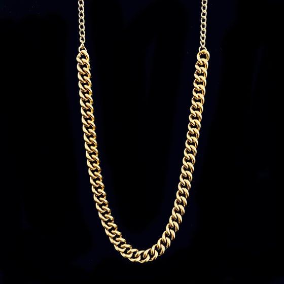Image of COCO CHUNKY / THIN  NECKLACE / 24k Gold-coated silver