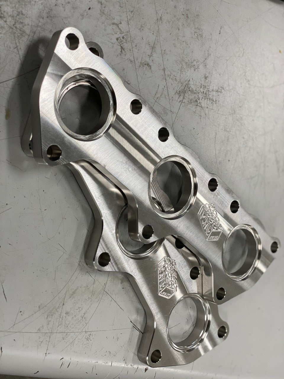 """Image of Audi 2.7t/2.8 stainless steel exhaust flange (pair) 1-1/4"""""""