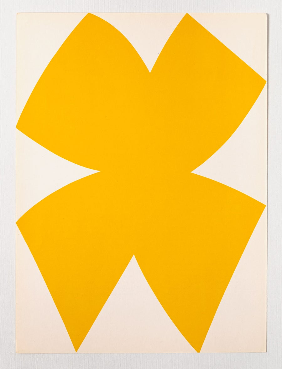 Image of Ellsworth Kelly, Derrière le Miroir - Kelly No. 110, yellow