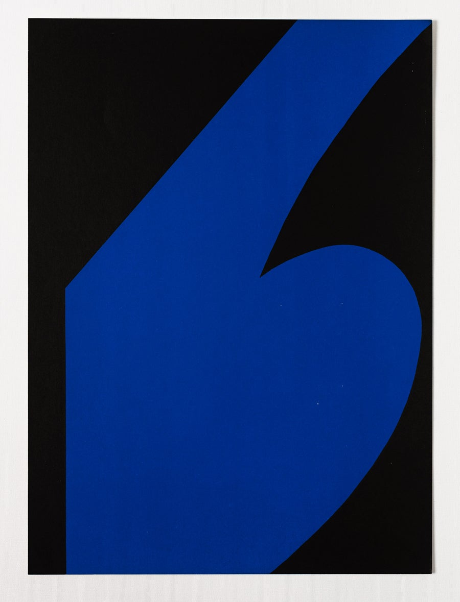 Image of Ellsworth Kelly, Derrière le Miroir -Kelly No. 110, black / blue