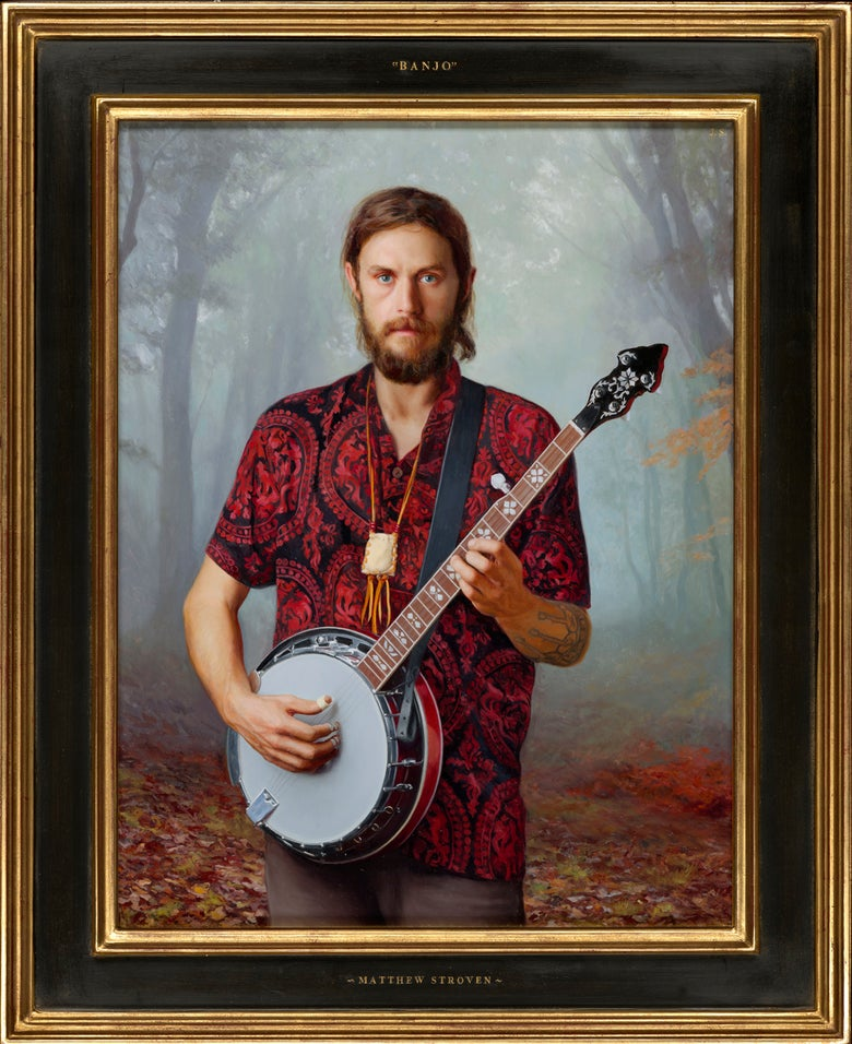 Image of Banjo Glass Giclée  print signed and numbered by Jon Swihart