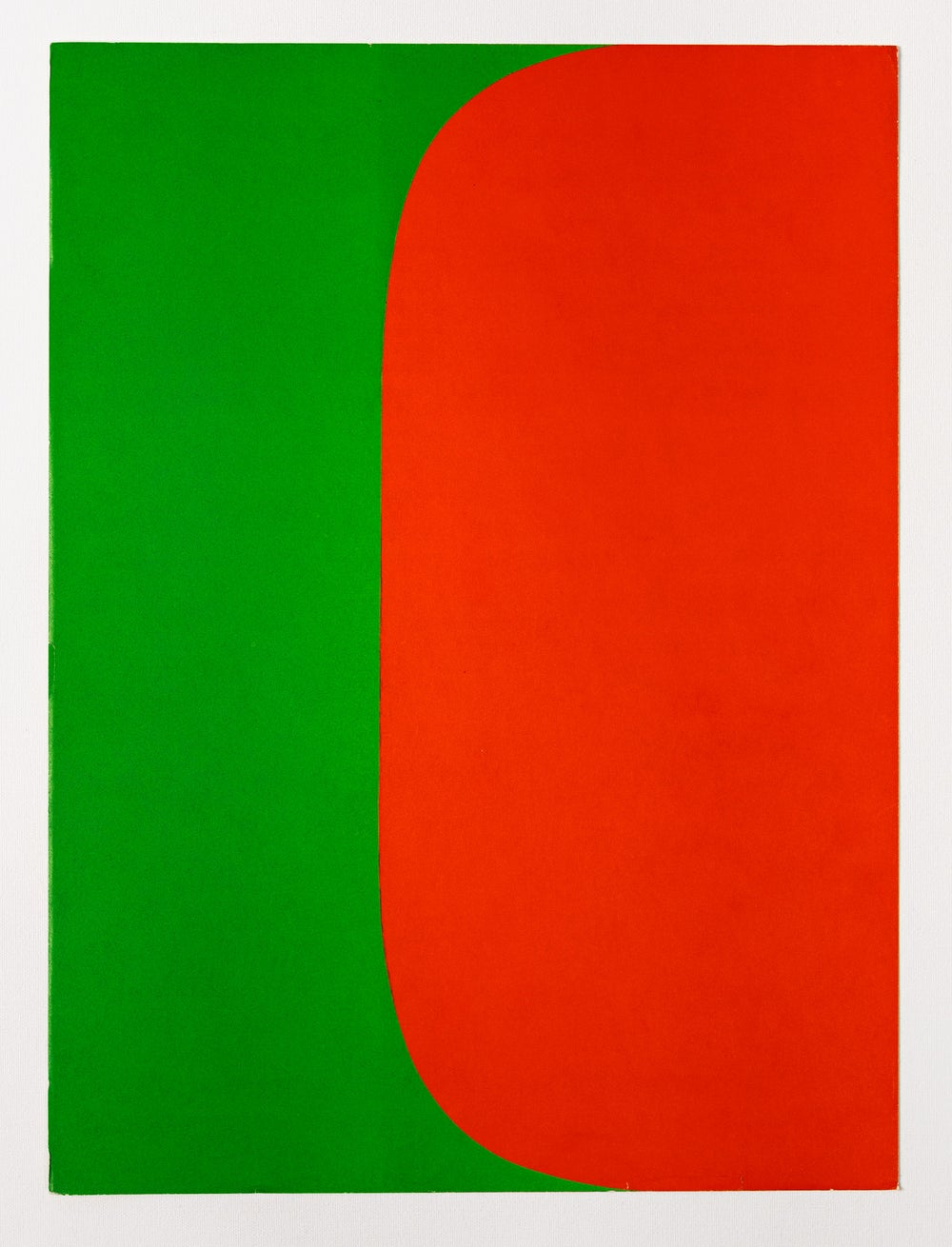 Image of Ellsworth Kelly, Derrière Le Miroir No. 149, 1964, red / green