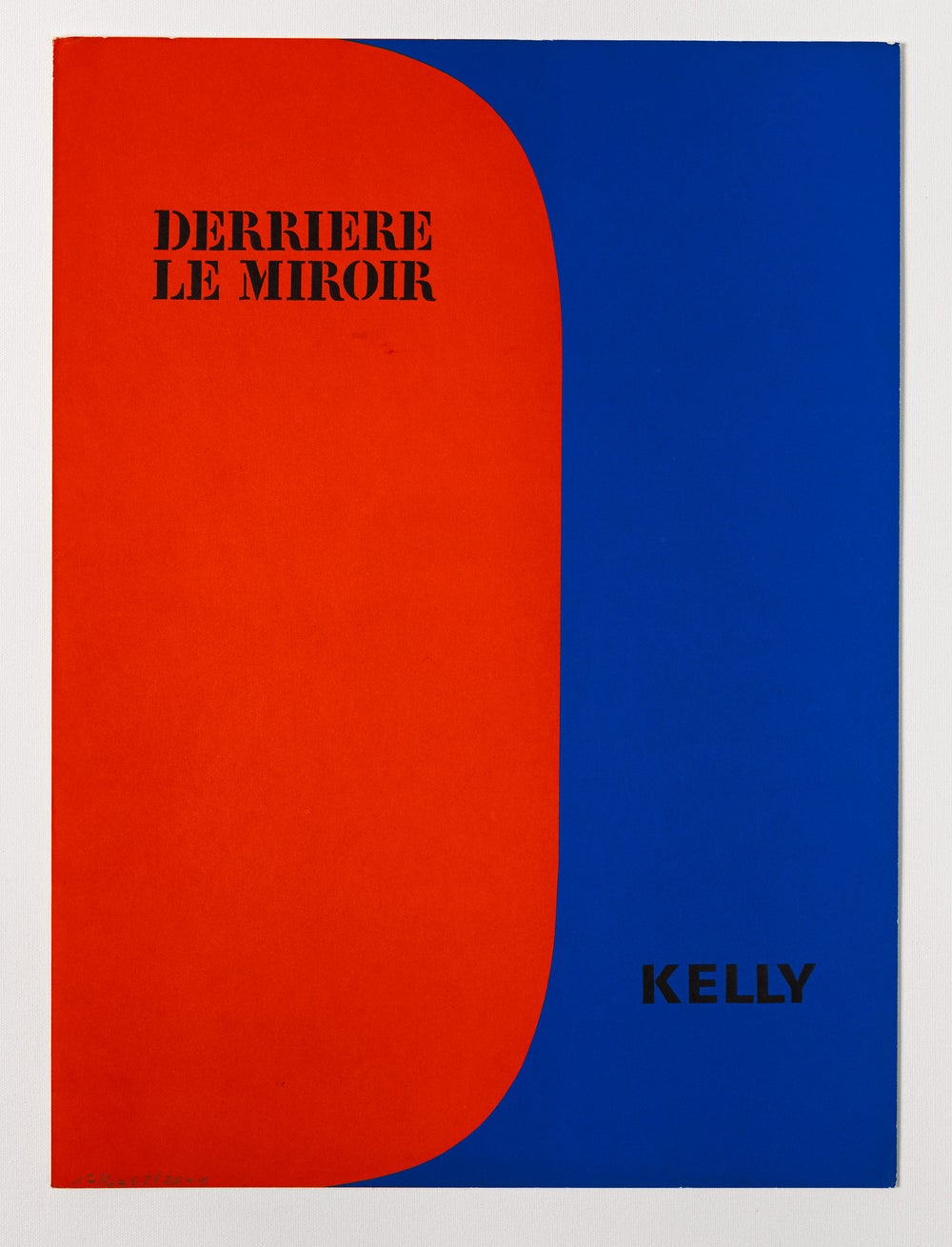 Image of Ellsworth Kelly, Derrière Le Miroir - Kelly No. 149, 1964, red / blue