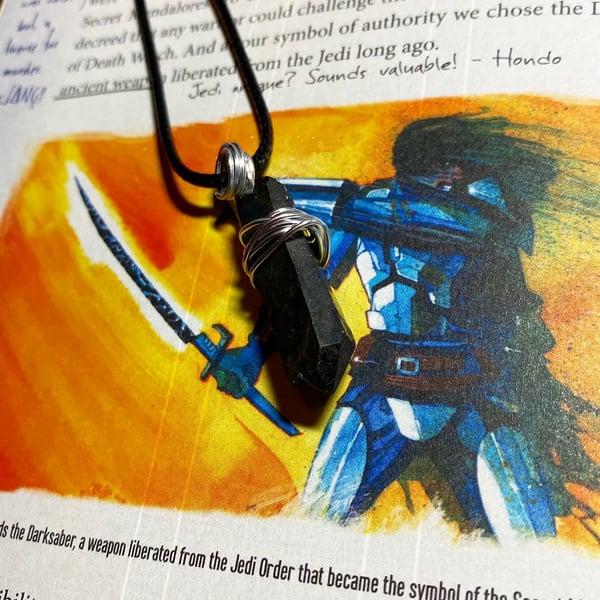 Image of Mandalorian Legend Kyber Pendant