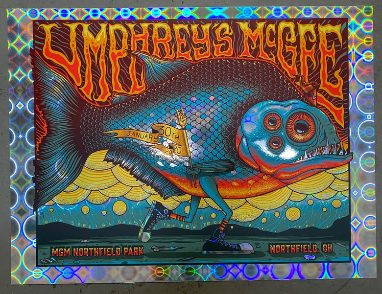 Image of Umphrey's McGee - January 30th, 2020 - Northfield, OH - Circular Wonder Foil Variant