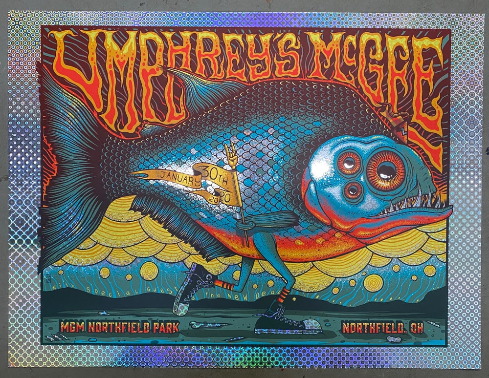 Image of Umphrey's McGee - January 30th, 2020 - Northfield, OH - Pyramid Foil Variant