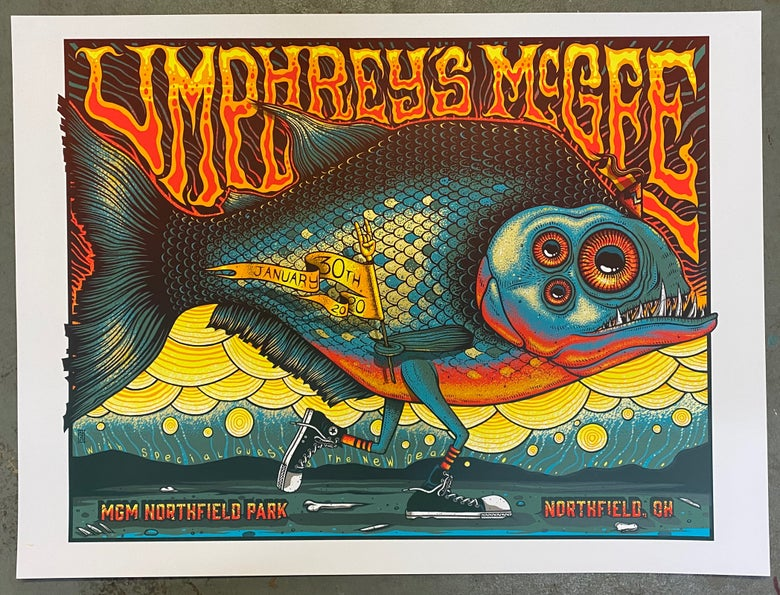 Image of Umphrey's McGee - January 30th, 2020 - Northfield, OH - Metallic Gold Variant