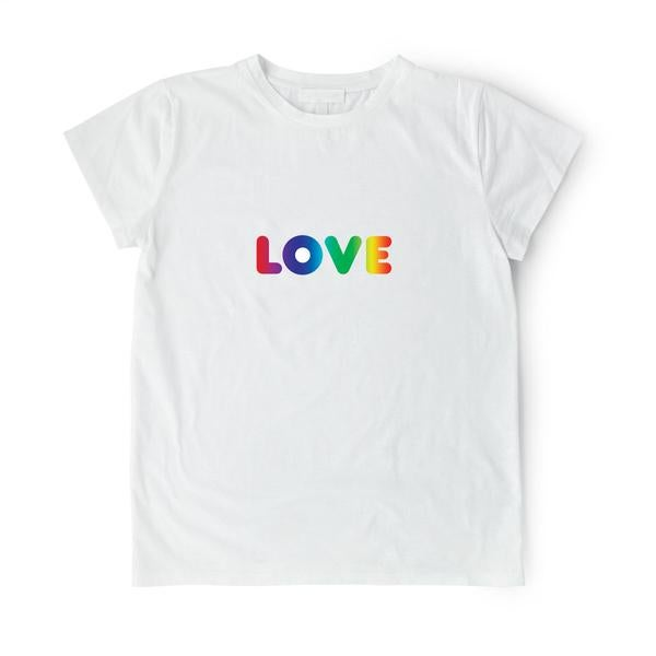 "Image of Zakee Shariff ""Rainbow LOVE"" Pluto T-Shirt"