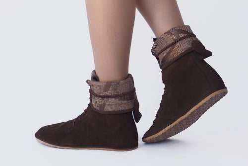 Image of Lace up boots - Deco in Dark Nubuck Brown