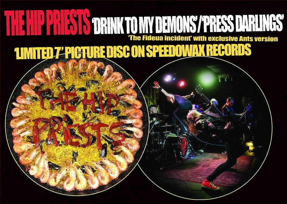 The Hip Priests picture disc 50 pre order version with sticker pack and obi strip