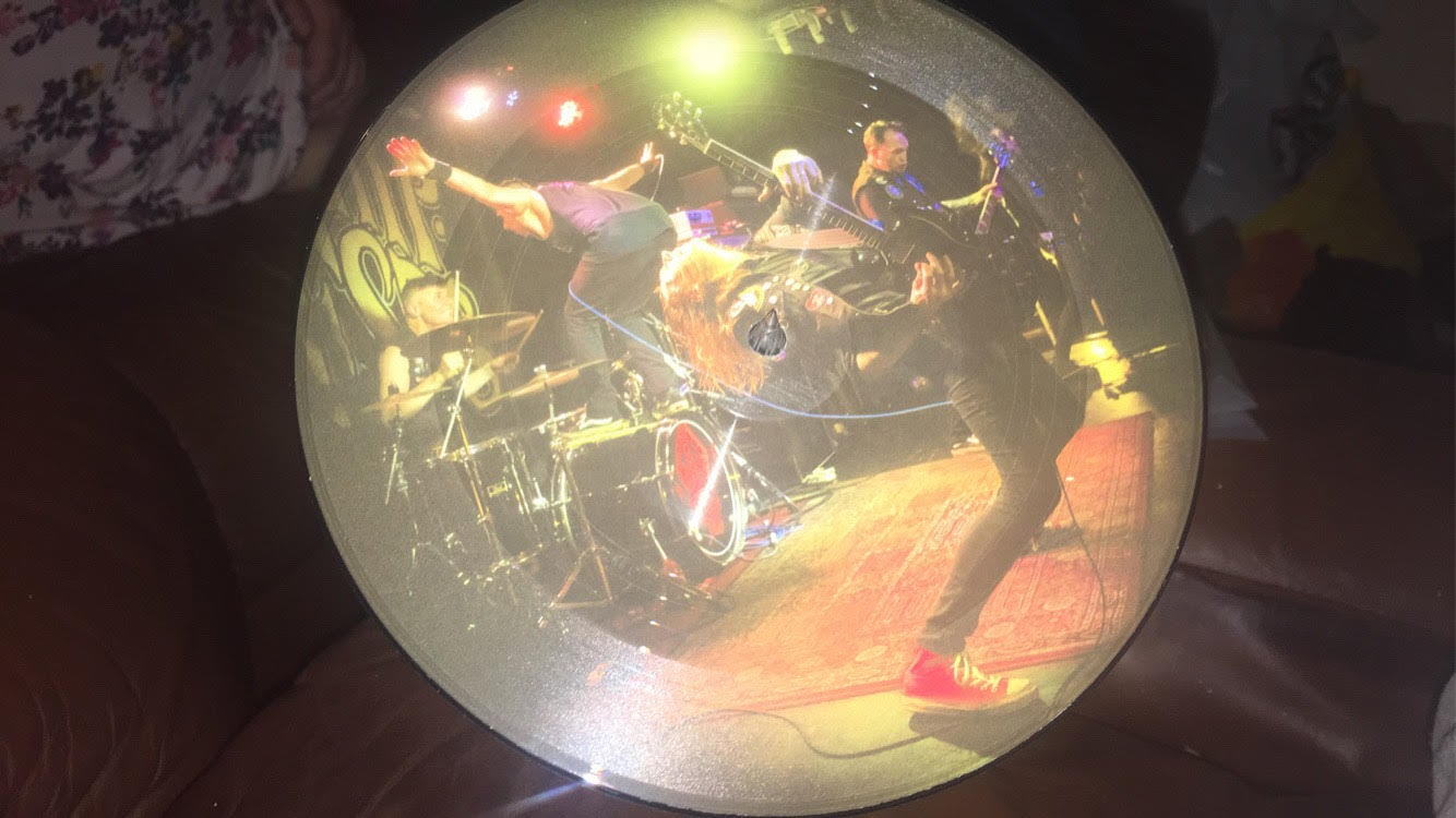 Image of  The Hip Priests picture disc 50 pre order version with sticker pack and obi strip