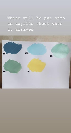 Image of Paint swatch samples