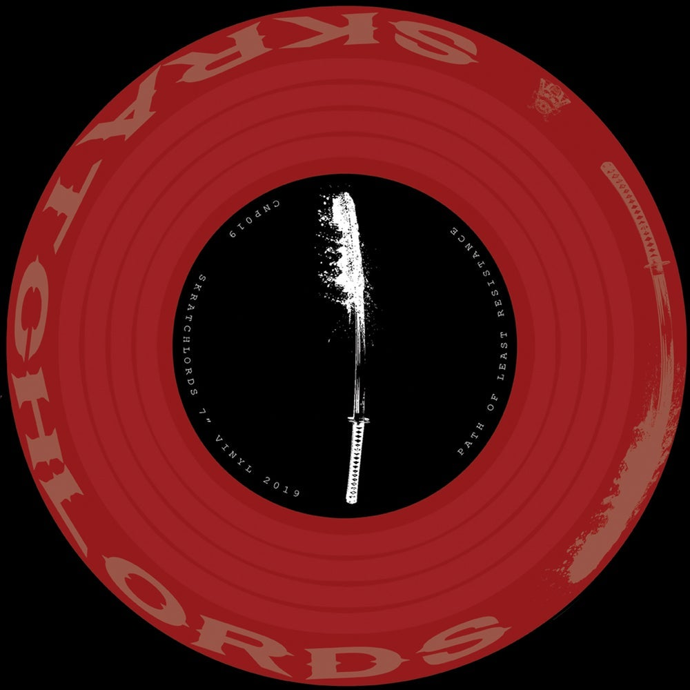 """Image of 7"""" Vinyl - The Skratchlords - Path of Least Resistance 7"""" Deep Red (CNP019)"""