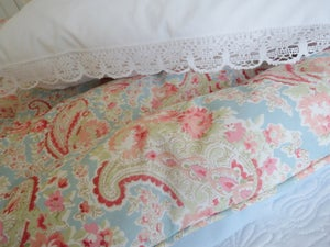 Image of Stunning duck egg blue double paisley eiderdown-ready to go!