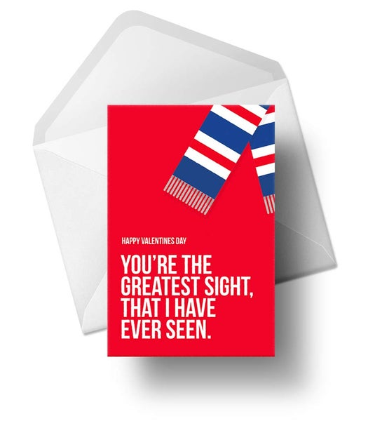 Image of Valentine's Cards for Rangers fans - LIMITED Quantity available