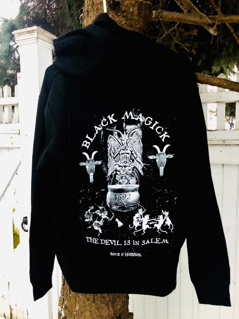 Image of Black Magick Zip Up Hoodie