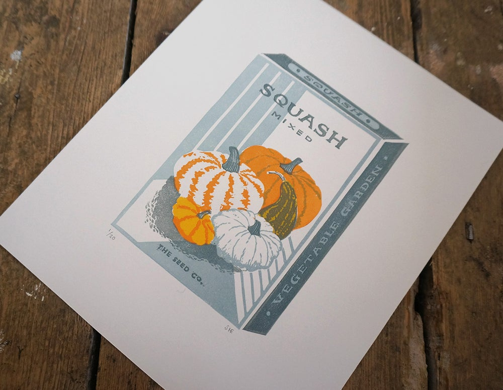 Image of October Print - Squash