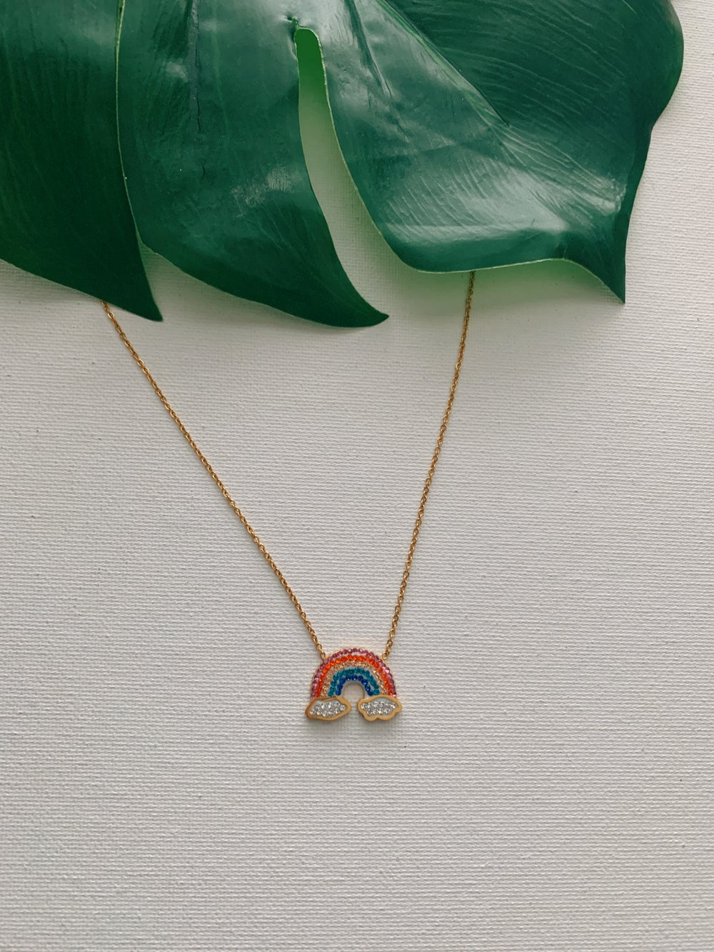 Image of NAVI'S POT OF GOLD • Rainbow Pendant Necklace