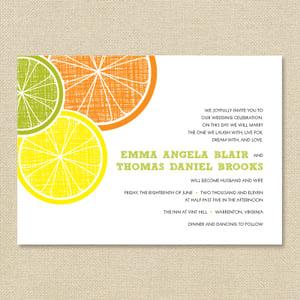 Image of {Emma} Citrus Wedding Invitation