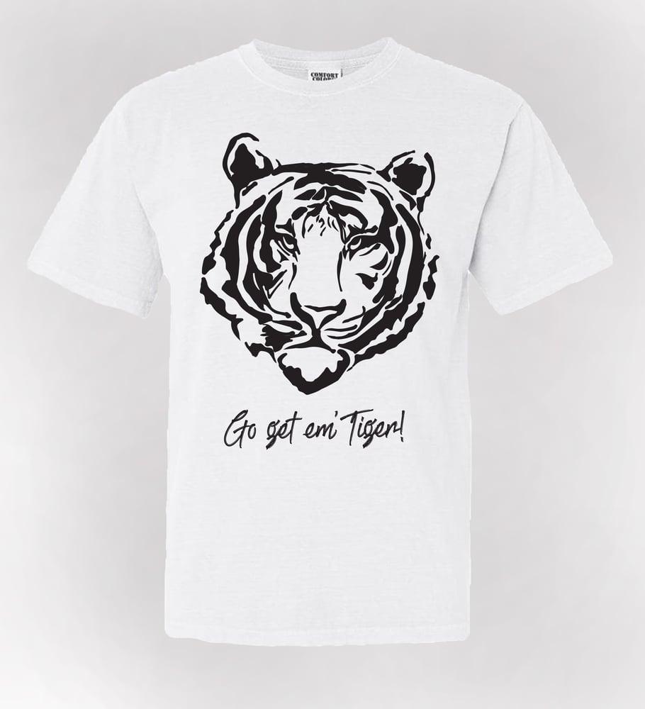 Image of Go Get Em' Tiger! Tees - White (USPS Shipping)
