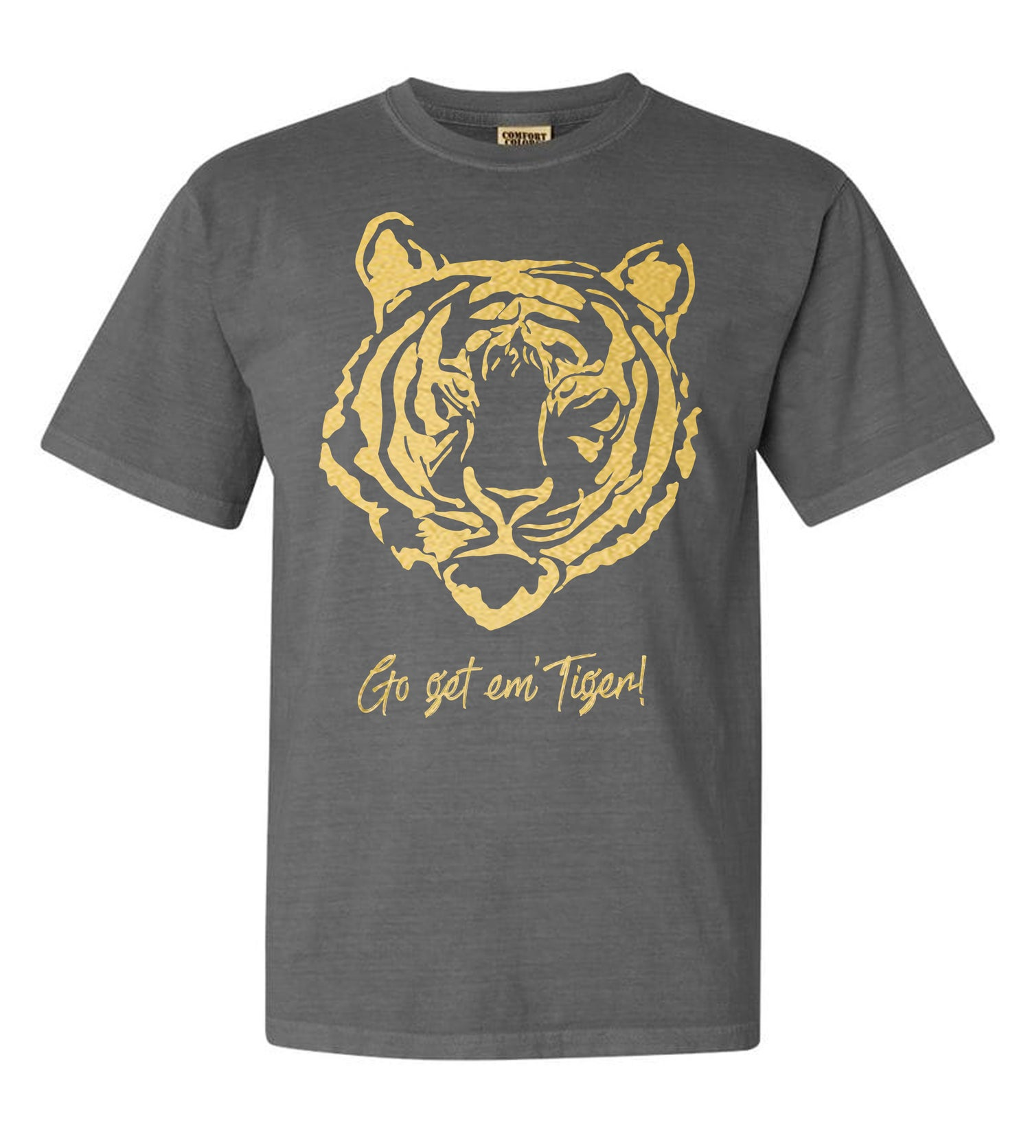 Image of Go Get Em' Tiger! Tees - Grey (USPS Shipping)