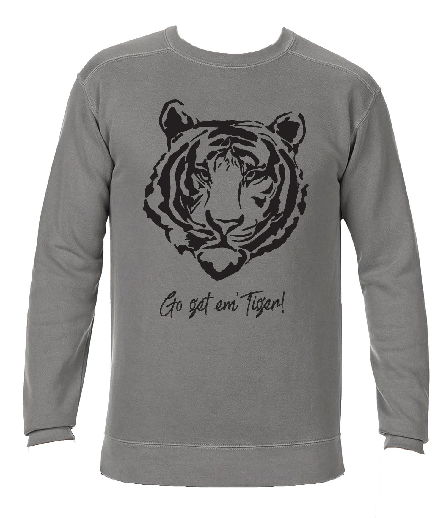 Image of Go Get Em' Tiger! CC SWEATSHIRT - Grey (USPS DELIVERY)