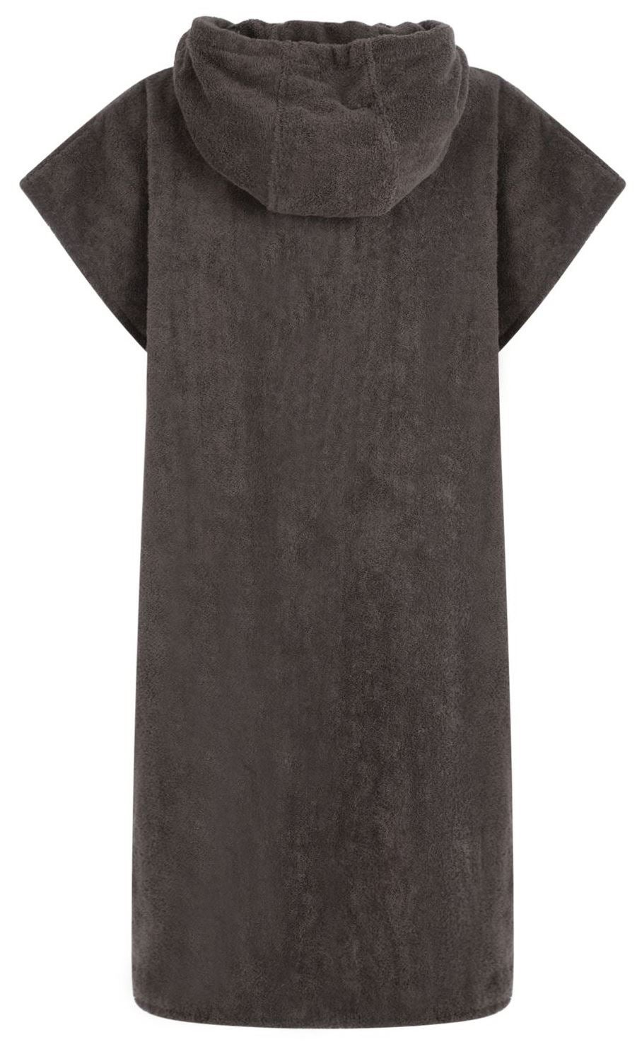 HOODED CHANGING ROBE - DARK GREY