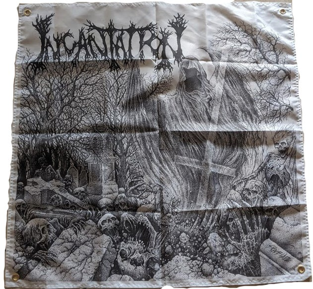 "Image of Incantation  "" Rotting ""  - Banner  / Flag / Tapestry"