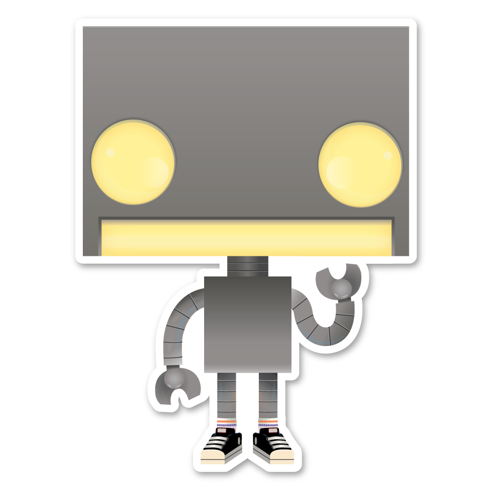 Image of Robot Stickers (2 Pack!)