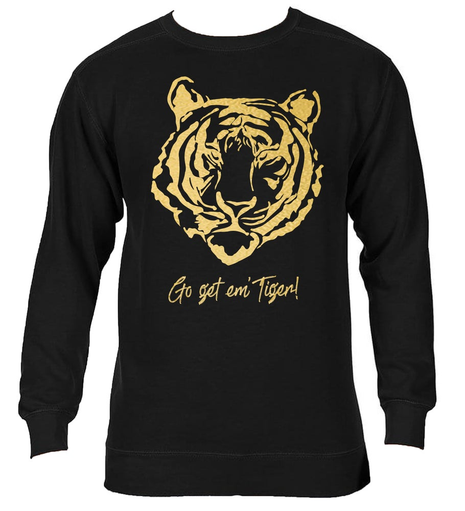 Image of Get Em' Tiger! CC SWEATSHIRT - Black (USPS DELIVERY)