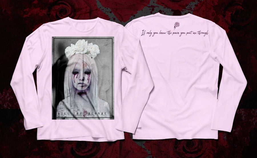 "Image of ""If only you knew"" pink long sleeve shirt"