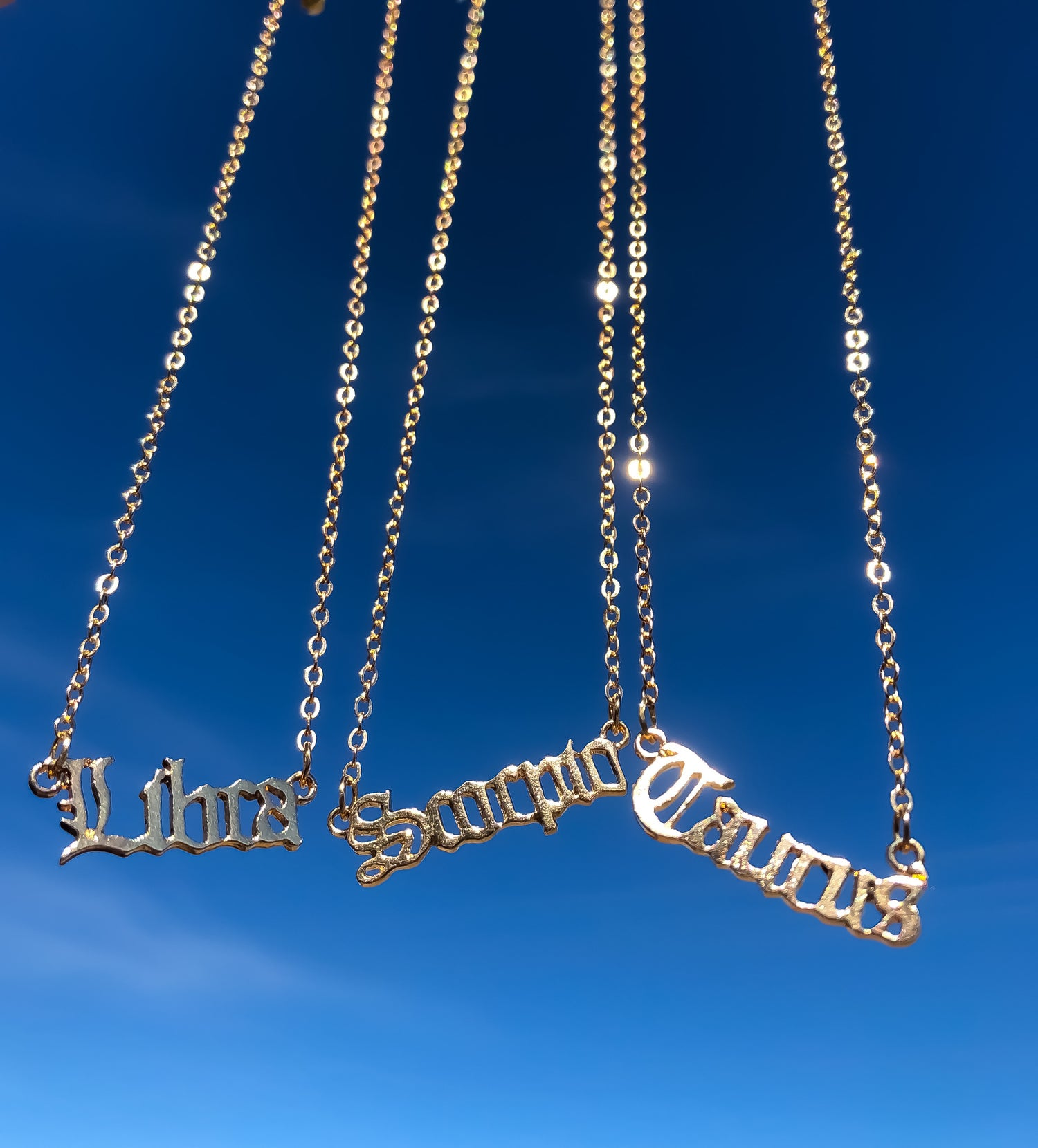Image of Birth Sign Necklaces