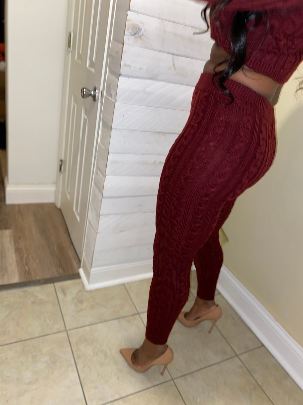 Burgundy Knit Set