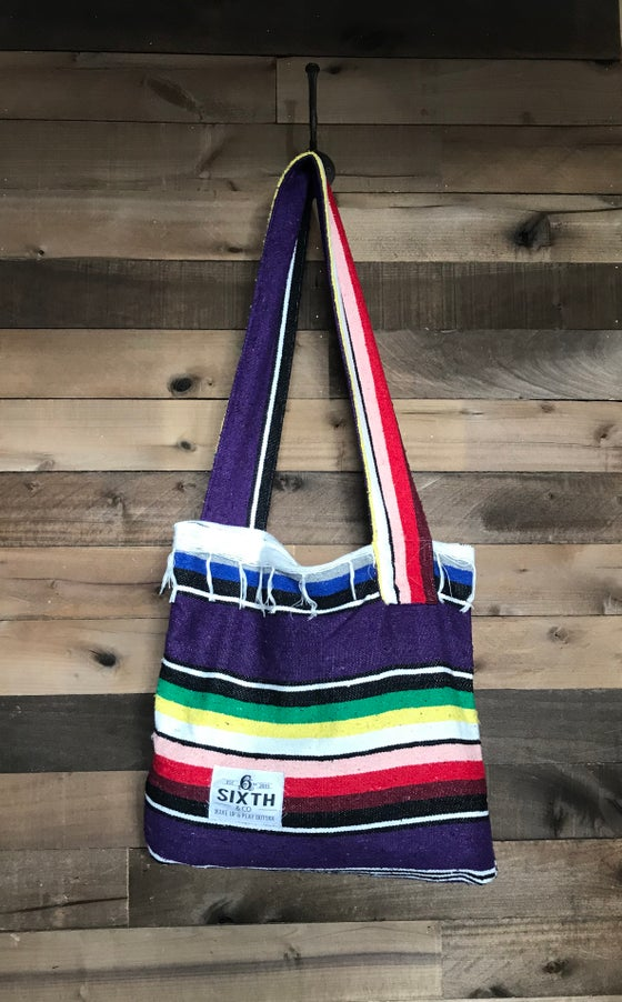 Image of Purple Serape Blanket Bag