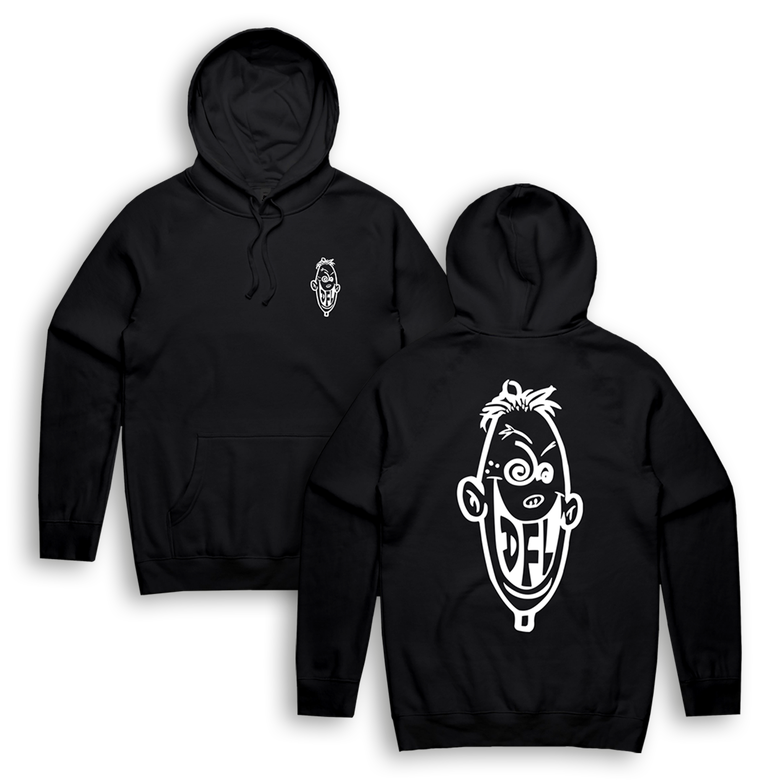Image of OLD SCHOOL Knucklehead - Hoodie (BLK)