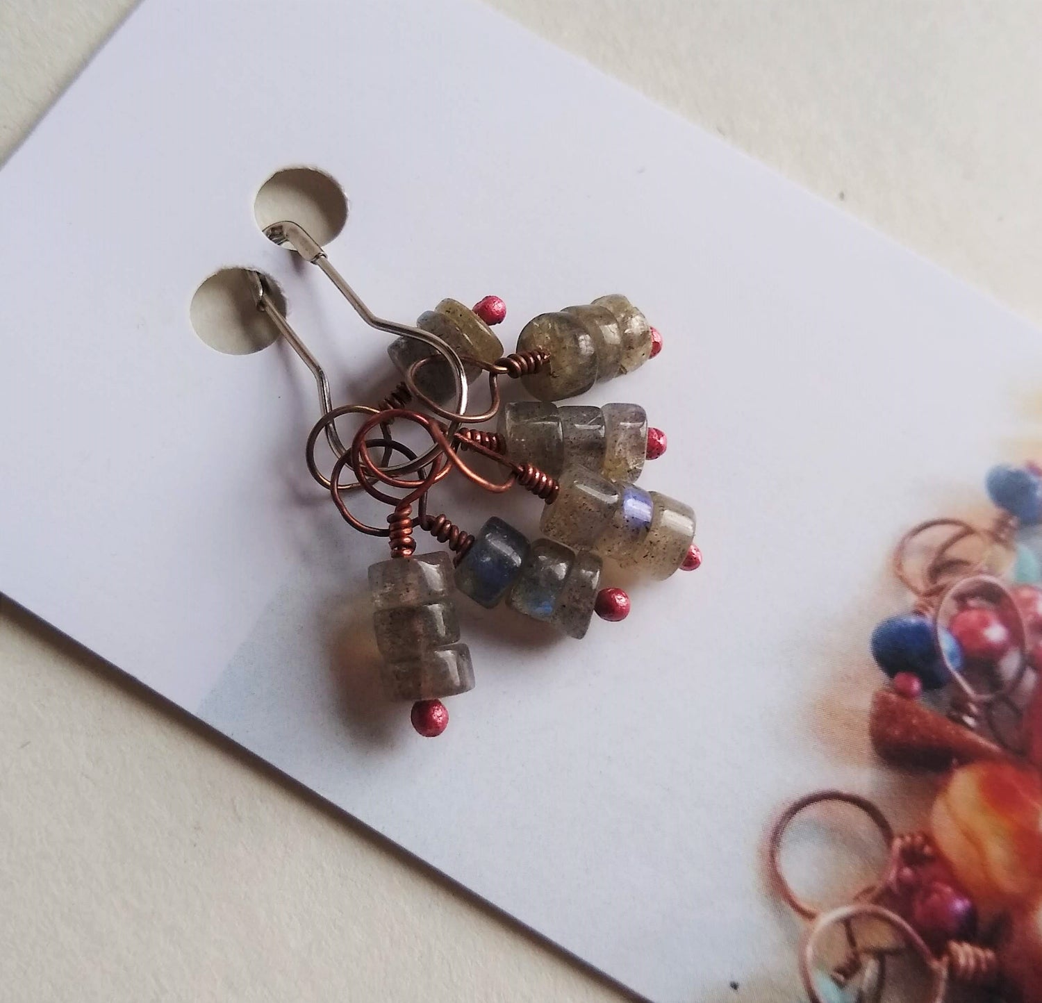 Image of Labradorite Stitch Marker Set