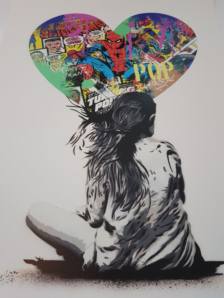 "Image of ALESSIO-B SUPERHERO SERIES ""SPIDERMAN"" - LTD ED OF JUST 25 - 50CM X 70CM"