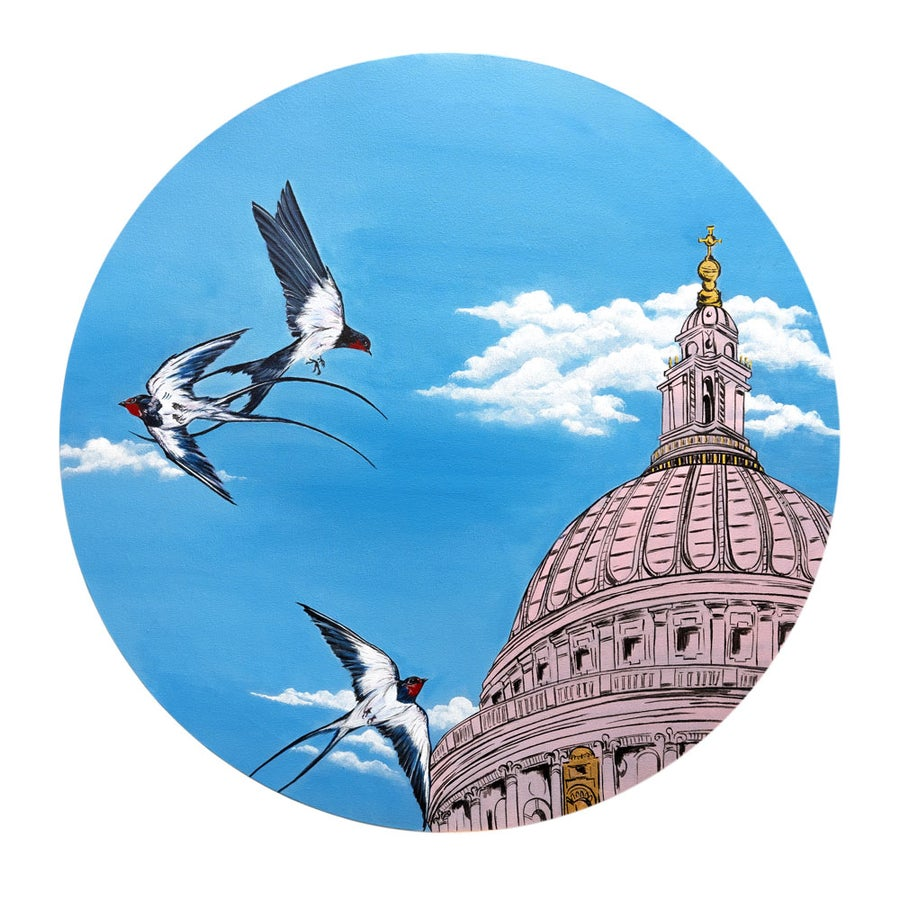 "Image of ""Swallows Over St Paul's"" - From the CityLife Collection"
