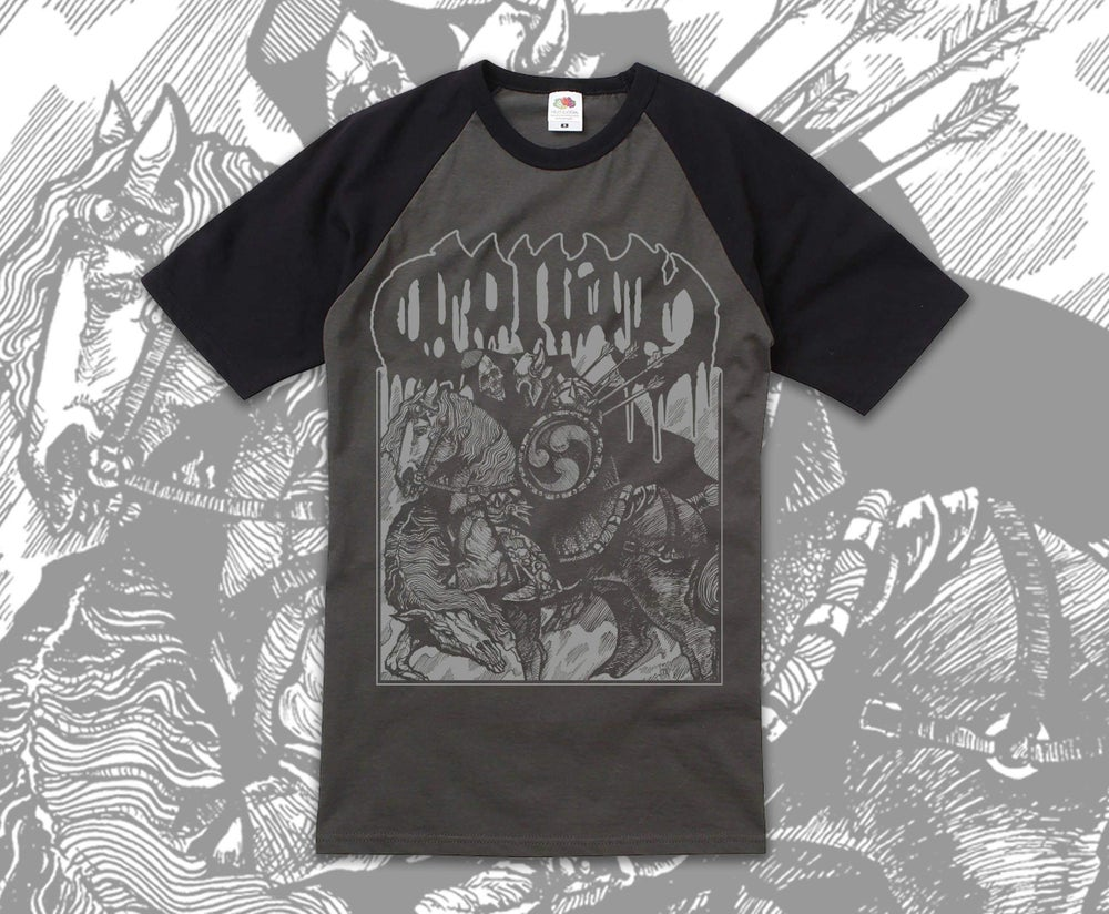 Image of Horseback Battle Hammer Baseball Shirt