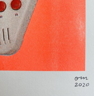 Image of Game boy, Game girl risograph by Orn Thongthai