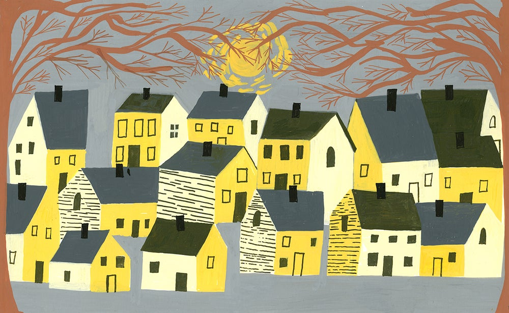 Image of A small village in New England. Limited edition print.
