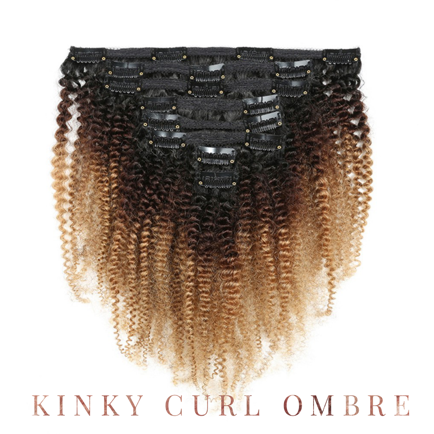 Image of Kinky Curl Ombre Clip Ins and Bundles