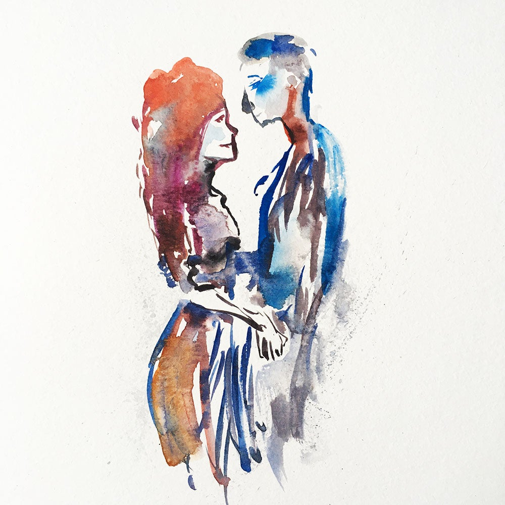 Image of Aquarelle d'un couple