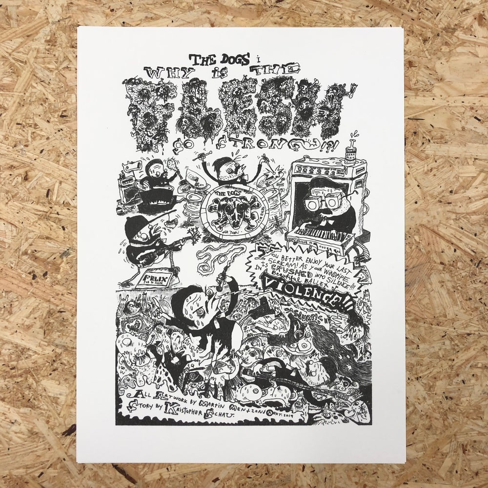 Image of The Dogs Comix Print (B/W)