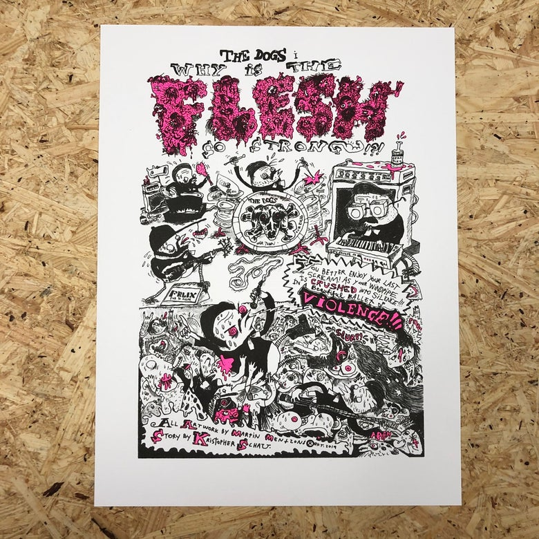 Image of The Dogs Comix Print (PINK)