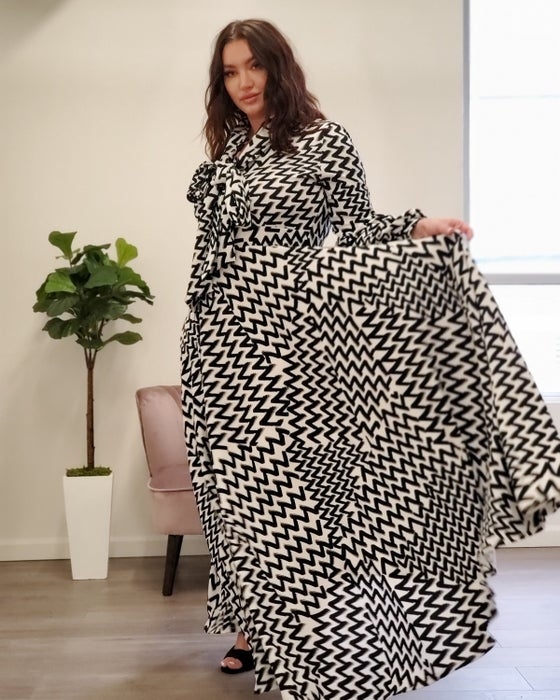 Image of Mitzy maxi black/white