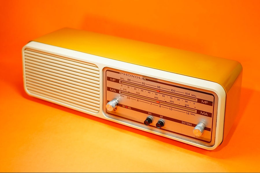 Image of PHONOLA PHONOLINO YELLOW (1970) RADIO VINTAGE BLUETOOTH