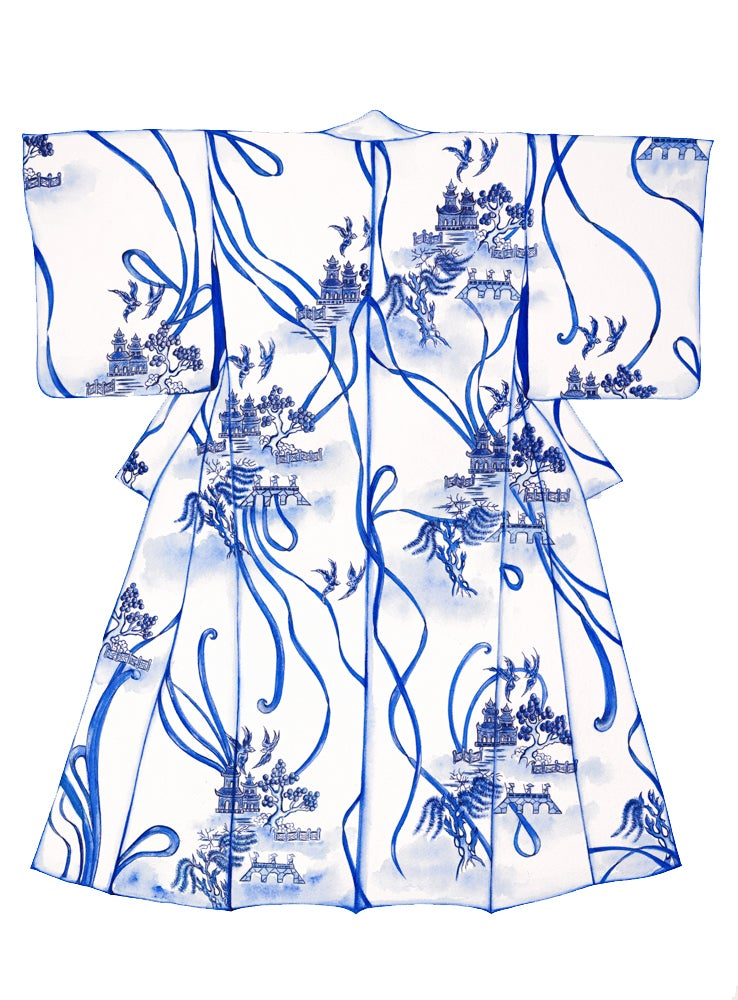"Image of ""Blue  Willow"" - From the CityLife Collection"