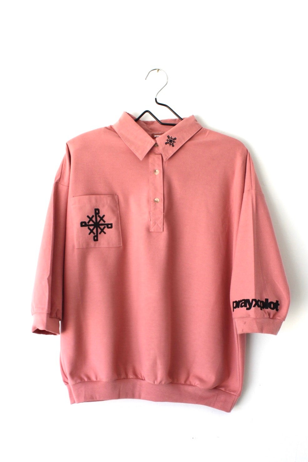 Image of all sevens collar shirt in mauve